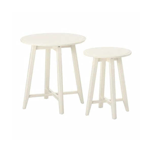 IKEAネストテーブル2点セットKRAGSTAホワイト送料¥750!代引き可