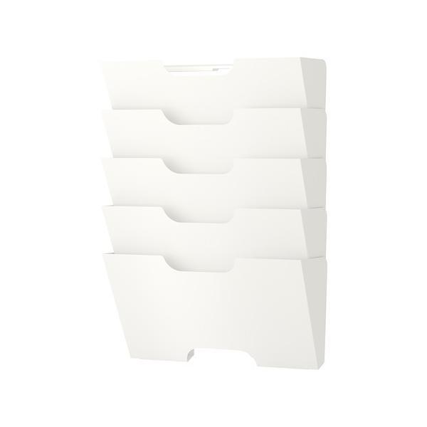 IKEAウォール 新聞ラックKVISSLEホワイト送料¥750!代引き可