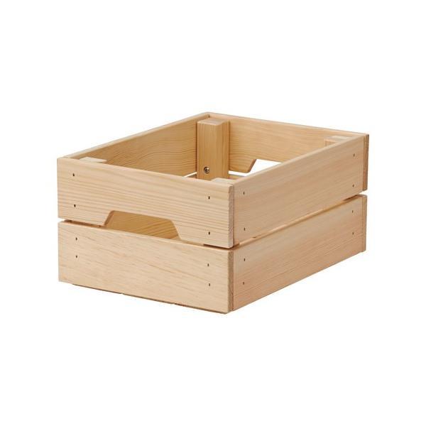 IKEAボックスKNAGGLIGパイン材23x31x15cm送料¥750!代引き可
