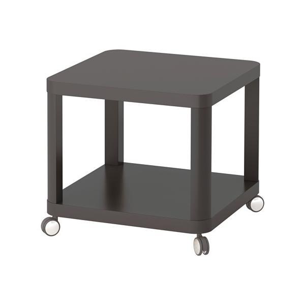 IKEAサイドテーブルキャスター付きTINGBYグレー50x50cm¥750代引き可