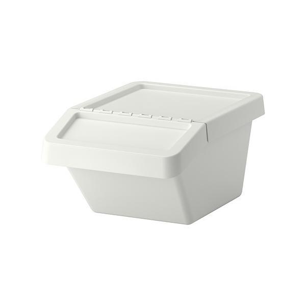 IKEA分別ゴミ箱 ふた付SORTERAホワイト37L送料¥750!代引き可