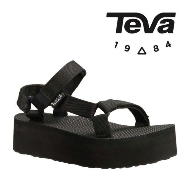 Teva テバ サンダル レディース 1008844 W FLATFORM UNIVERSAL BLACK 厚底 人気 シンプル ビーチ アウトドア 夏服 セレブ 靴 シューズ 25cm 黒 ブラック usli