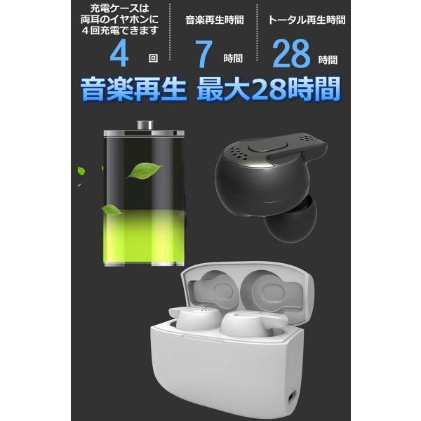 Bluetooth5.0  ワイヤレス イヤホン Bluetooth イヤホン bluetooth イヤホン ブルートゥース イヤホン iphone8 イヤホン iphone Android 対応 マイク 内蔵|lazo-office|17