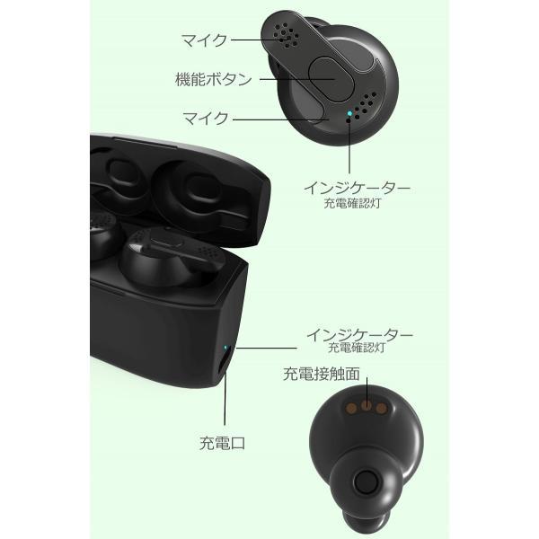 Bluetooth5.0  ワイヤレス イヤホン Bluetooth イヤホン bluetooth イヤホン ブルートゥース イヤホン iphone8 イヤホン iphone Android 対応 マイク 内蔵|lazo-office|19