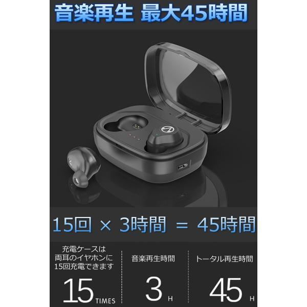 Bluetooth5.0  ワイヤレス イヤホン Bluetooth イヤホン bluetooth イヤホン ブルートゥース イヤホン iphone8 イヤホン iphone Android 対応 マイク|lazo-office|14