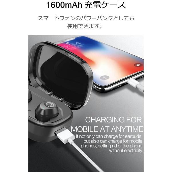 Bluetooth5.0  ワイヤレス イヤホン Bluetooth イヤホン bluetooth イヤホン ブルートゥース イヤホン iphone8 イヤホン iphone Android 対応 マイク|lazo-office|05