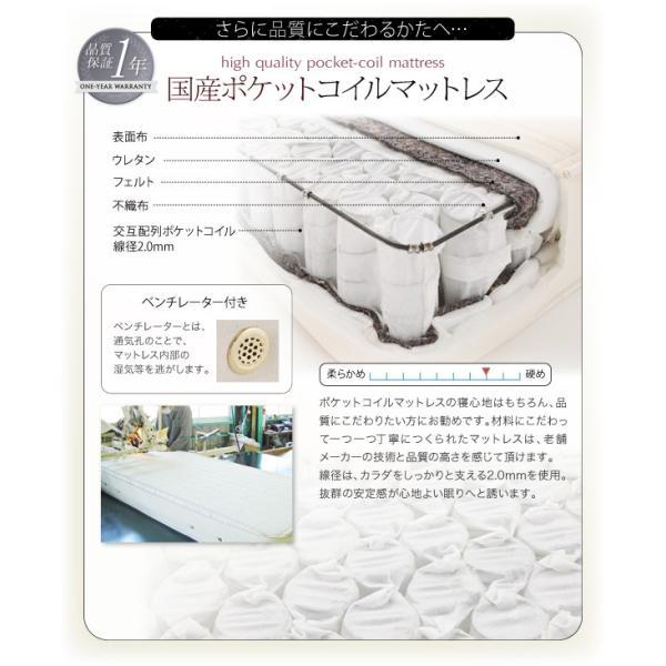 ベッド ダブル コンセント付き デザインベッド Cordova コルドヴァ マルチラススーパースプリングマットレス付き ダブルサイズ|lbazal|17