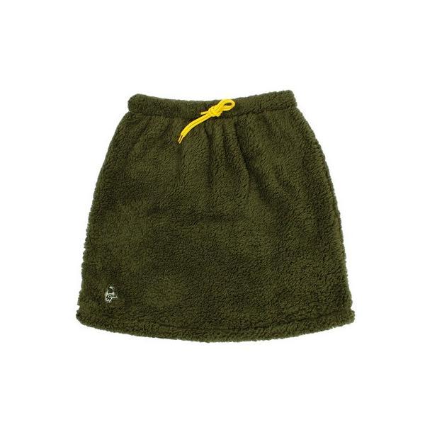 チャムス(CHUMS) フリースエルモスカート CH18-1080 Khaki (Lady's)|lbreath