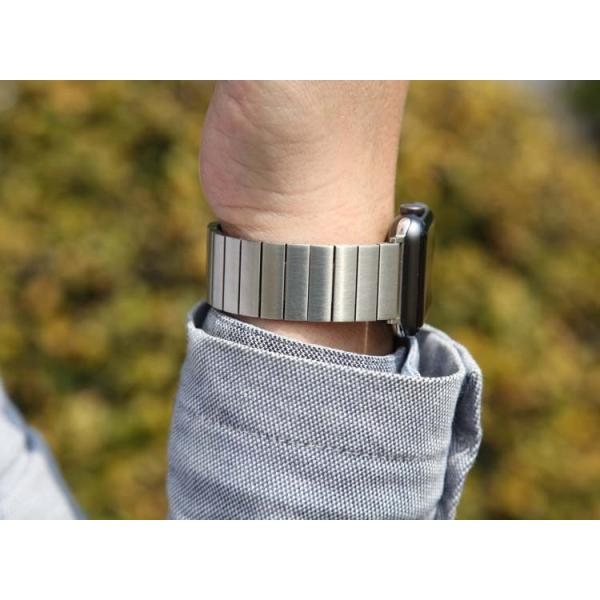 アップルウオッチ パーツ付きスマート腕時計バンド ステンレス鋼 ベルト Apple Watch リンクブレスレット40/38mm 44/42mmステンレスベルトB18|lcsime-shop|05