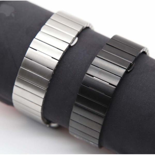 アップルウオッチ パーツ付きスマート腕時計バンド ステンレス鋼Apple WatchSeriesSE Series6 Series5/4/3/2 リンクブレスレット40/38mm 44/42mmステンレスB18|lcsime-shop|09