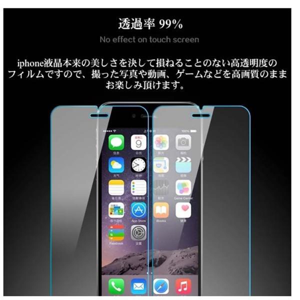 「ブルーライトカット」iphone7/iphone7plusiPhone6s Plus iPhone6 iPhone5 iPhone5s アイフォン6s 強化 ガラスフィルム 保護フィルム 硬度9H 指紋防止〜|lcsime-shop|04