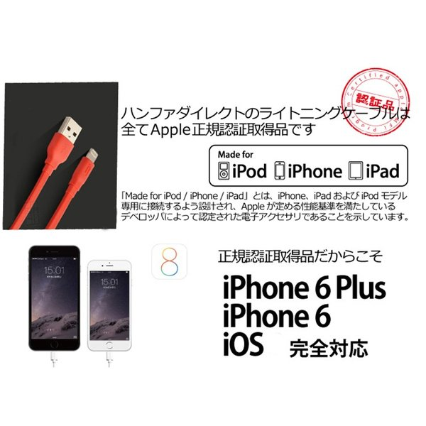 Appleの正規ライセンス取得製品〜1.5m長さiPhone 6s / 6 / 6s Plus / 6 Plus 対応Lightningケーブル iconシリーズ lcsime-shop 03