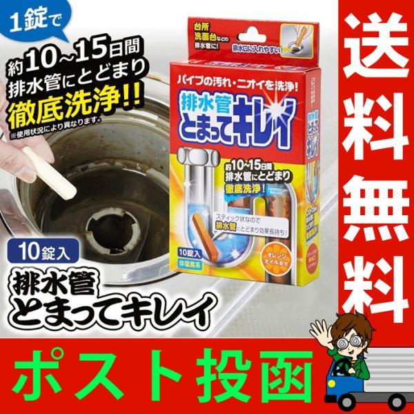 排水管とまってキレイ 排水管洗浄剤 スティック状 10錠入り