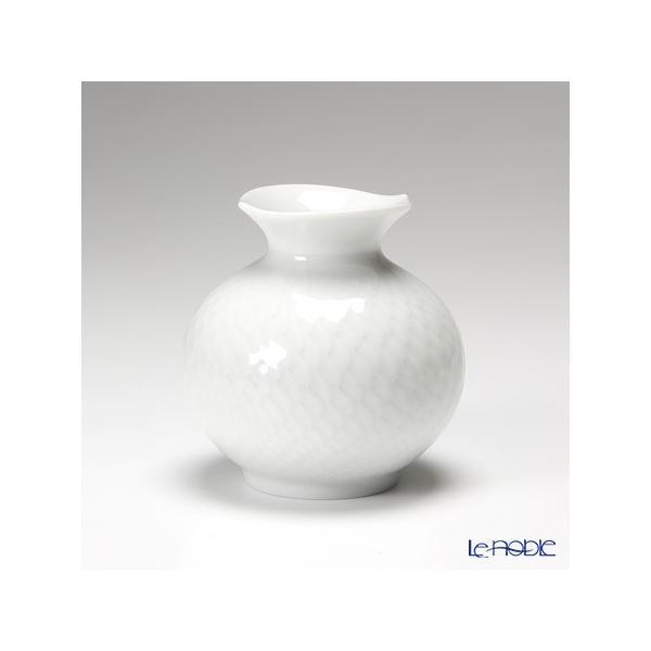 マイセン 波の戯れホワイト ベース(花瓶) 9cm