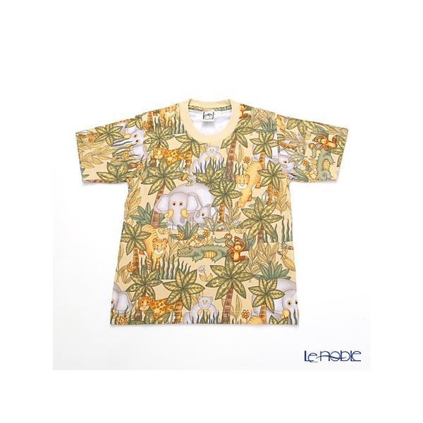 ジムトンプソン 子供服 Tシャツ S(4-7歳) アニマル ジャングル ベージュ