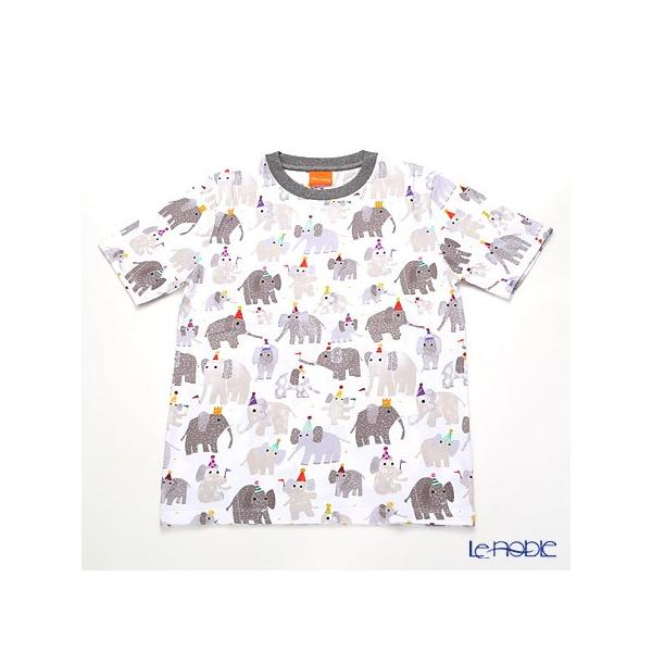 ジムトンプソン 子供服 Tシャツ M(8-11歳) ミニゾウパーティー/ホワイト