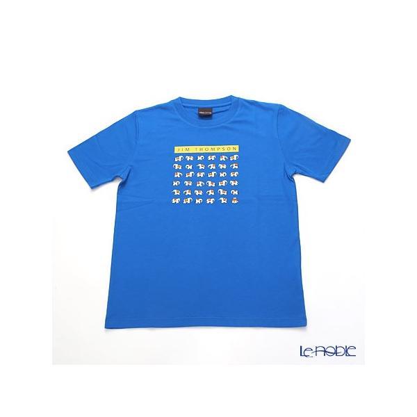 ジムトンプソン 子供服 Tシャツ M(8-11歳) ホワイトゾウ36/ブルー