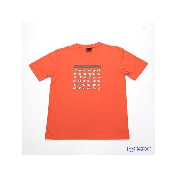 ジムトンプソン 子供服 Tシャツ M(8-11歳) ホワイトゾウ36/オレンジ
