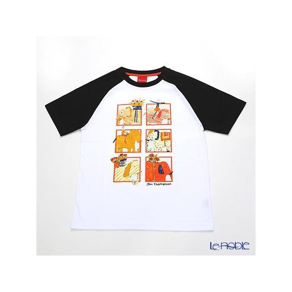 ジムトンプソン 子供服 Tシャツ M(8-11歳) ゾウサファリ