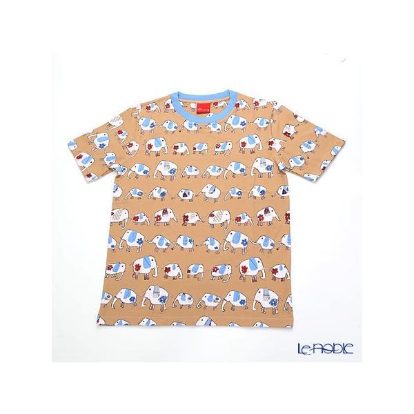 ジムトンプソン 子供服 Tシャツ M(8-11歳) ゾウウォーキング/ベージュ