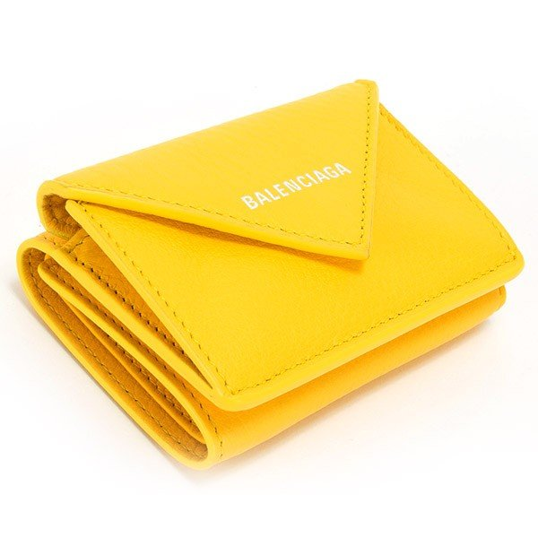 バレンシアガ 財布 三つ折り財布 ミニ財布 レディース ペーパー ミニウォレット BALENCIAGA 391446 DLQ0N 7155 薄型 薄い 名入れ le-premier 03