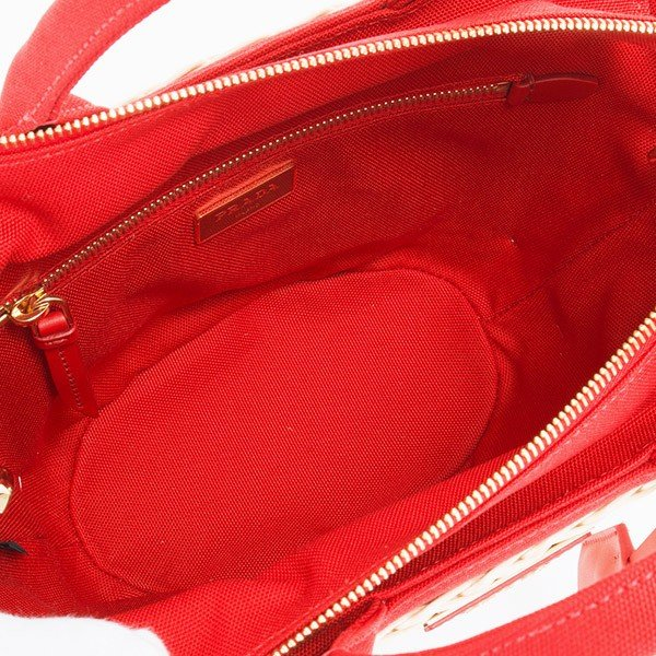 プラダ PRADA バッグ 新品 正規品 ハンドバッグ ショルダーバッグ かごバッグ ストロー ナチュラル/ロッソ・レッド 1BG172 2E28 F0B67 NATURALE+ROSSO TU