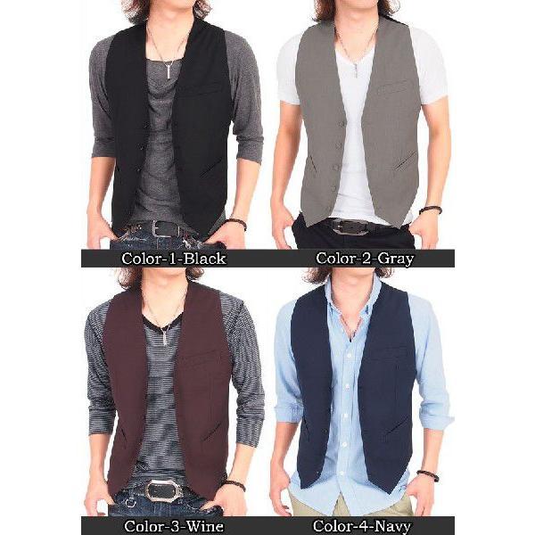ジレベスト メンズ ベスト ジレ テーラードジャケット ブレザー テーラード アウター メンズジャケット メンズファッション 通販|leadmen|02
