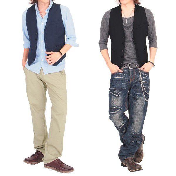 ジレベスト メンズ ベスト ジレ テーラードジャケット ブレザー テーラード アウター メンズジャケット メンズファッション 通販|leadmen|05