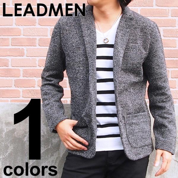 メンズテーラードジャケット ノッチドラベル タイト|leadmen