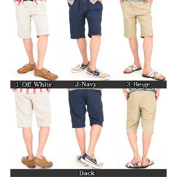 メンズショートパンツ ショーツ イージーパンツ リネン 麻 ハーフパンツ パンツ ショート 短パン メンズファッション 通販|leadmen|02