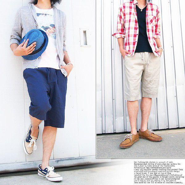 メンズショートパンツ ショーツ イージーパンツ リネン 麻 ハーフパンツ パンツ ショート 短パン メンズファッション 通販|leadmen|05