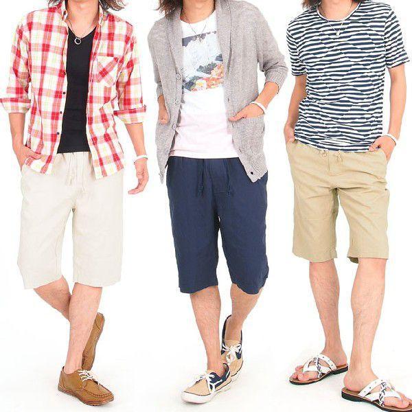 メンズショートパンツ ショーツ イージーパンツ リネン 麻 ハーフパンツ パンツ ショート 短パン メンズファッション 通販|leadmen|06