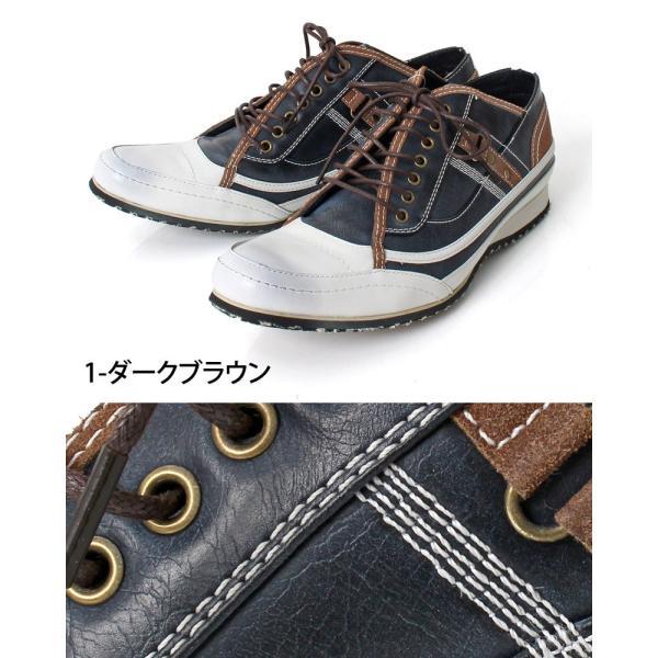 スニーカー メンズ 靴 レースアップ ローカットスニーカー メンズベルト メンズファッション 通販 leadmen 04