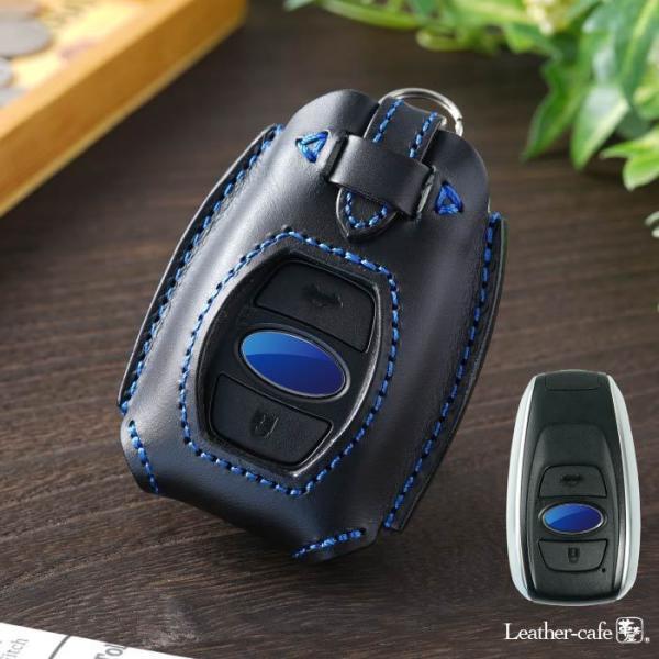 【即納】スバル用 本革  スマートキーケース スマートキーカバー 窓付き|leathercafe-y