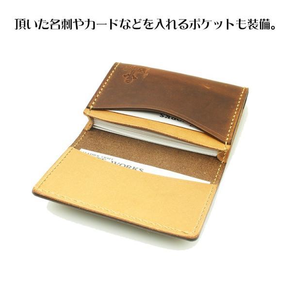 名刺入れ レディース メンズ 本革 名入れ 日本製 工房直送 leathercraft-ezoya 05