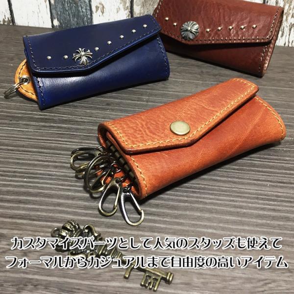 キーケース レディース メンズ 本革 名入れ 6連 日本製 工房直送|leathercraft-ezoya|03