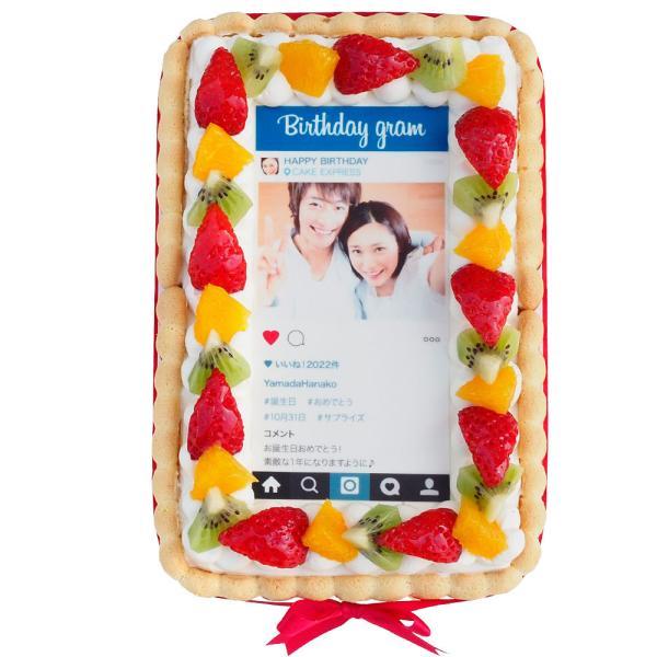 インスタ風写真ケーキ S バースデーケーキ 生クリームのショートケーキ|lecadeaukotobuki|03
