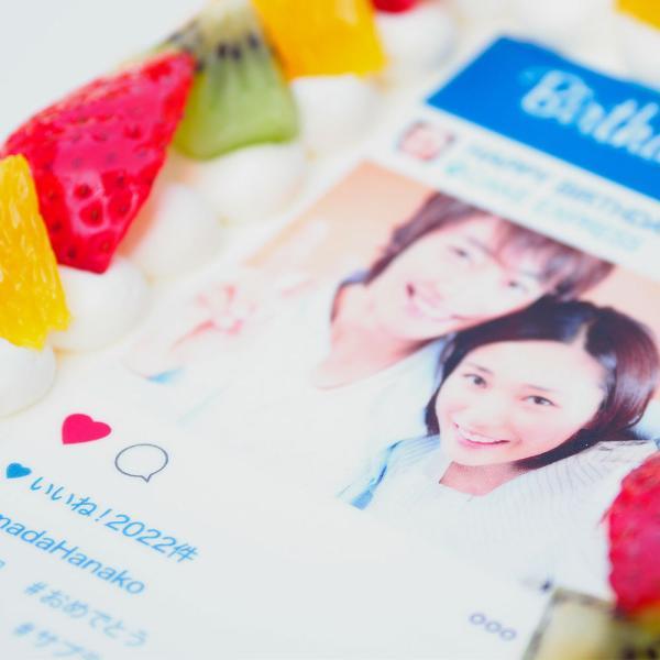 インスタ風写真ケーキ S バースデーケーキ 生クリームのショートケーキ|lecadeaukotobuki|04