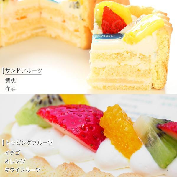 インスタ風写真ケーキ S バースデーケーキ 生クリームのショートケーキ|lecadeaukotobuki|06
