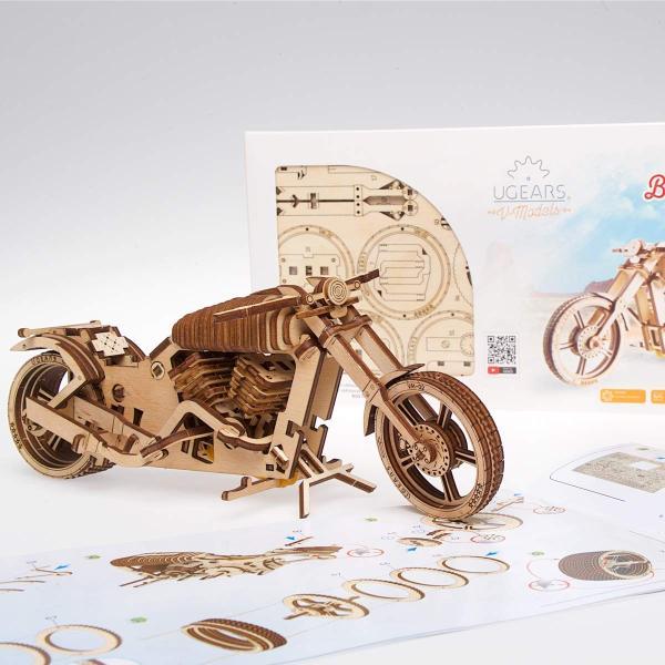 Ugears Bike VM-02 バイクVM-02 ;70051 木のおもちゃ 3D立体 パズル lechantilly 02