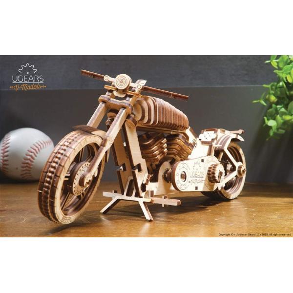 Ugears Bike VM-02 バイクVM-02 ;70051 木のおもちゃ 3D立体 パズル lechantilly 03