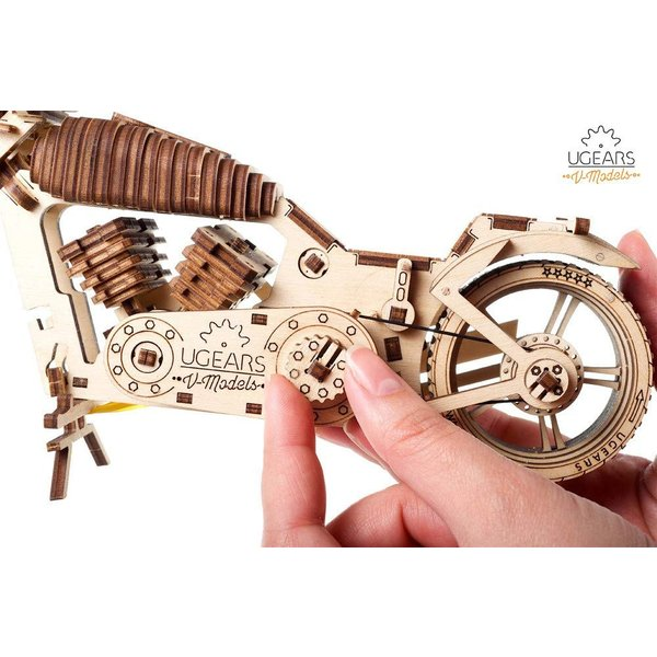 Ugears Bike VM-02 バイクVM-02 ;70051 木のおもちゃ 3D立体 パズル lechantilly 05
