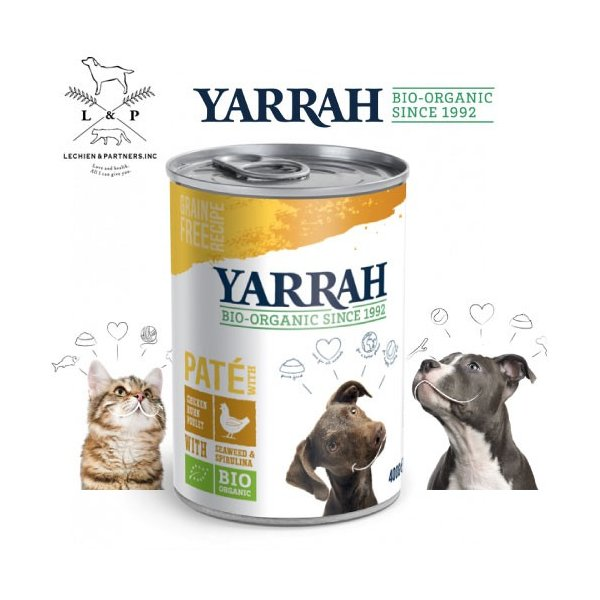 【1/1~1/5限定10%クーポン+5%還元】ヤラー(YARRAH)ドッグディナーチキンパテ缶400g|lechien-life