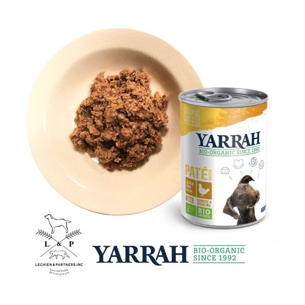 【1/1~1/5限定10%クーポン+5%還元】ヤラー(YARRAH)ドッグディナーチキンパテ缶400g|lechien-life|02