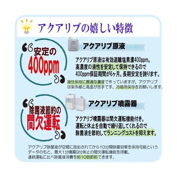 アクアリブ原液4リットル 次亜塩素酸水 除菌 消臭 ペット 赤ちゃん ウイルス|lechien-life|09