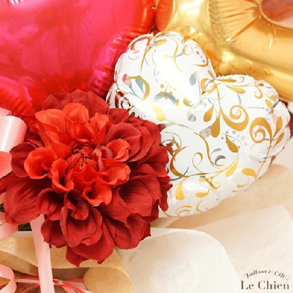 《送料無料》バルーン 美容院 開店祝い 周年祝い《置き型タイプで長持ち》ブラウン シザー ハサミ|lechien|06