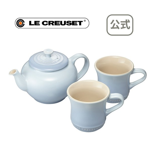 マグ カップ 食器 洋食器 ティー セット ルクルーゼ ル・クルーゼ るくるーぜ LECREUSET 公式 ティーポット&マグ(SS) (2個入り)セット コースタルブルー