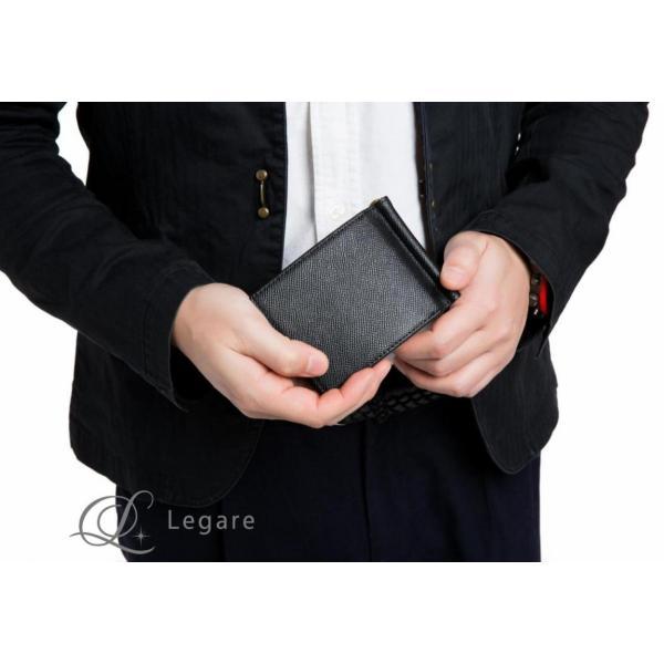 マネークリップ コインケース メンズ 小銭入れ付き 本革 マネークリップ 札はさみ レガーレ legare-factory 08
