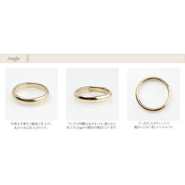 チタン ペアリング 甲丸リング 3.5mm幅 U01pair ( 純チタン / 指輪 / リング / シンプル / マリッジ / 結婚  / かまぼこ ) leger 04