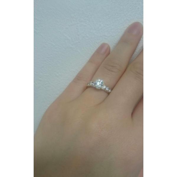 ダイヤモンド 指輪 リング 1カラット 指輪  1.014カラット H SI2 EXT 鑑定書付き 周りのダイヤ合計0.851ct 送料無料 プレゼントにもおすすめ